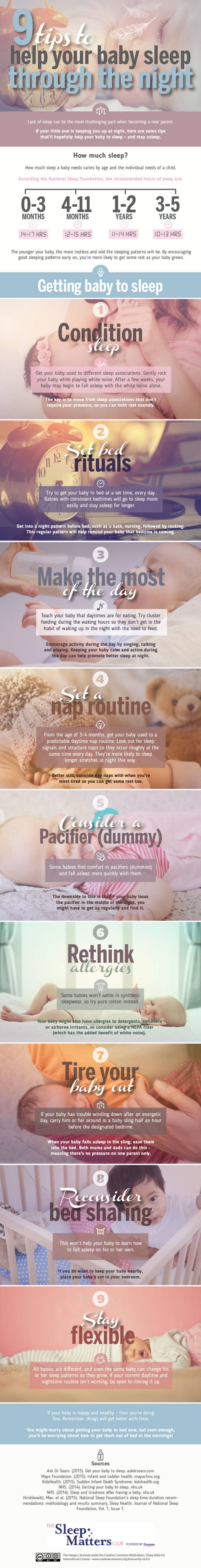 9 tips to help your baby sleep through the night